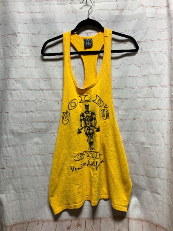 GOLD'S GYM MUSCLE TANK W/ VENICE BEACH DESIGN & RACERBACK
