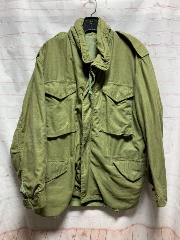 MILITARY JACKET ZIP-UP W/ 4 FRONT CARGO POCKETS