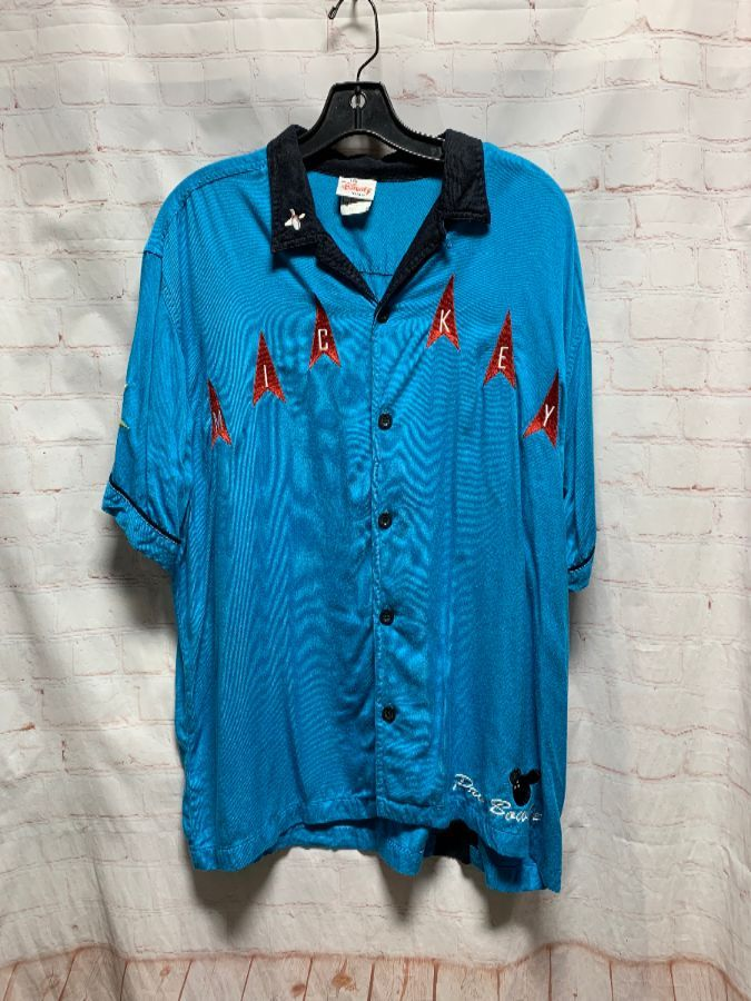 75153896b MICKEY MOUSE BOWLING SHIRT W  EMBROIDERY 1990 S RARE » Boardwalk Vintage