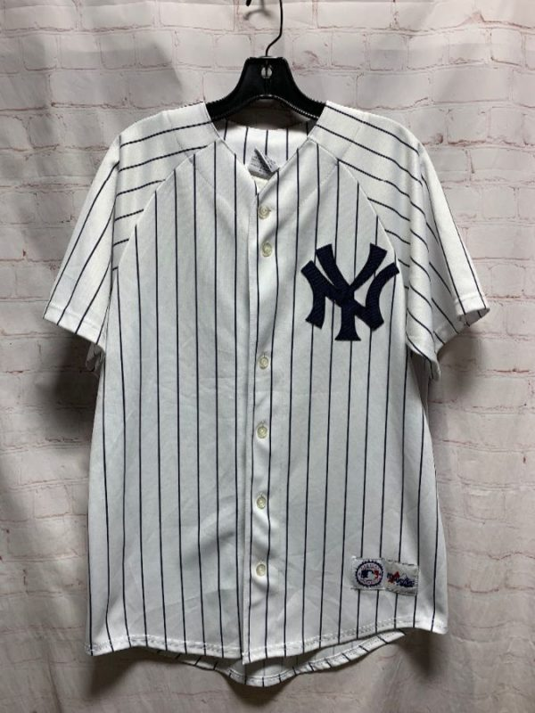 product details: NEW YORK YANKEES PINSTRIPED JERSEY MLB #22 CLEMANS photo