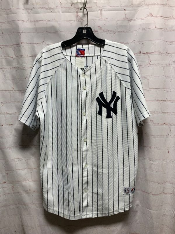 VERTICAL PINSTRIPED BASEBALL JERSEY NEW YORK YANKEES #2 JETER