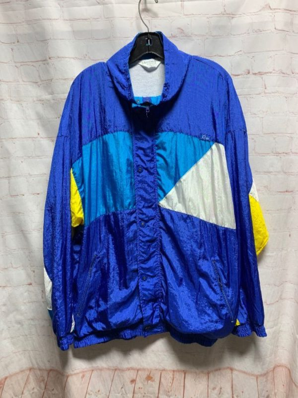 1990'S DIOR COLOR-BLOCK DESIGN WINDBREAKER JACKET