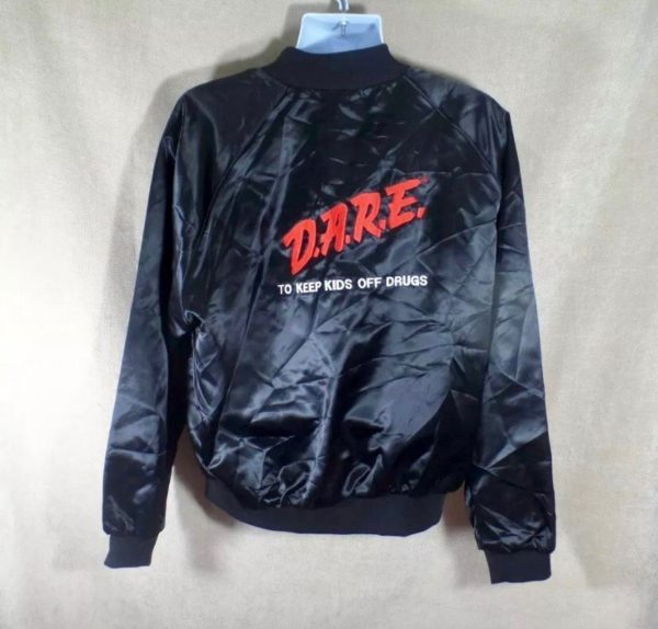 SATIN DARE JACKET D.A.R.E TO KEEP KIDS OFF DRUGS