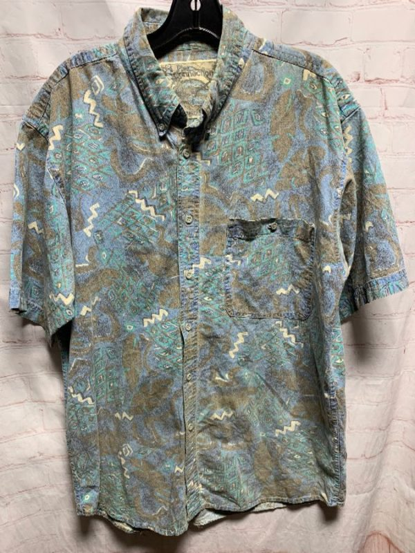 1990'S PINEAPPLE PRINT HAWAIIAN SHIRT