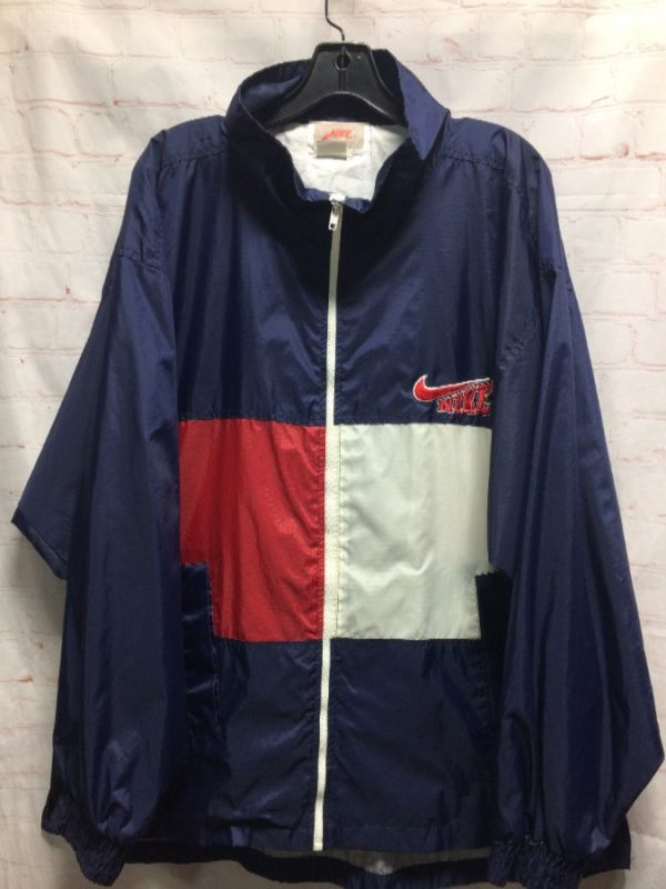 NIKE COLOR BLOCK WINDBREAKER JACKET W/ SUBTLE GRID & GRAY TAG