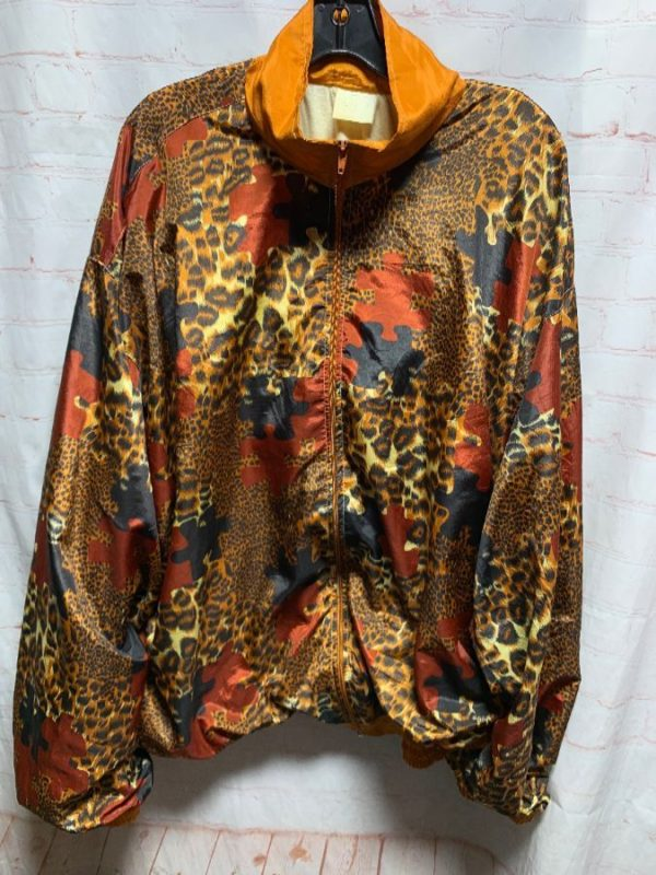 product details: SILKY WINDBREAKER W/ CHEETAH PUZZLE PRINT photo