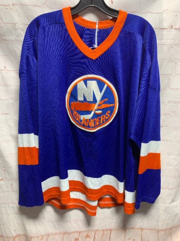NHL HOCKEY JERSEY W/ NEW YORK ISLANDERS LARGE EMBROIDERED FRONT PATCH