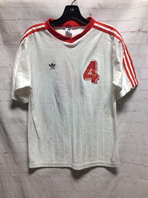 PULLOVER SOCCER JERSEY ADIDAS #4 STRIPED