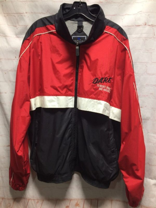 product details: JACKET DARE WINDBREAKER COLORBLOCK W/ PIPING SLEEVES photo