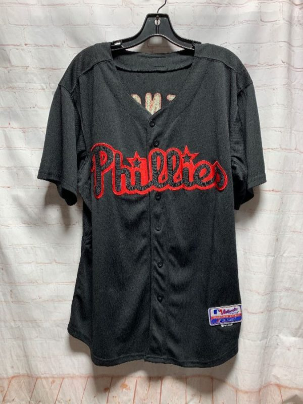 product details: MLB CHAIN STITCHED BASEBALL JERSEY PHILLIES PENCE #3 photo