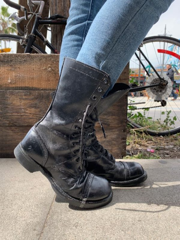 RAD RETRO LACE-UP COMBAT BOOTS MID CALF OXFORD STYLING