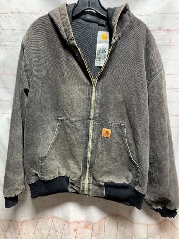 HOODED CANVAS CARHARTT JACKET FULLY LINED
