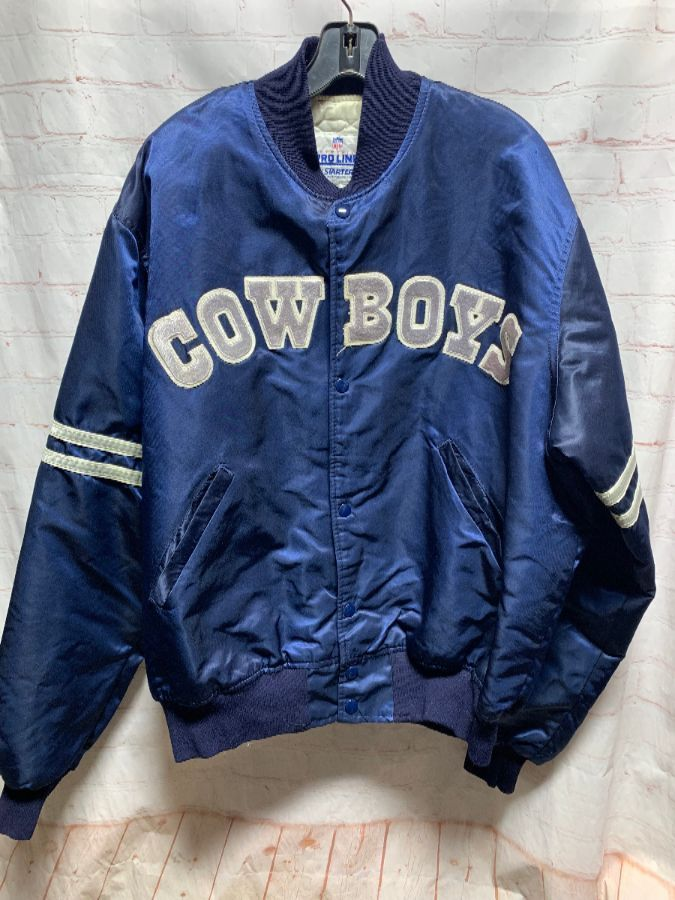online retailer 88abd e0664 NFL DALLAS COWBOYS SATIN BUTTON-UP STARTER JACKET
