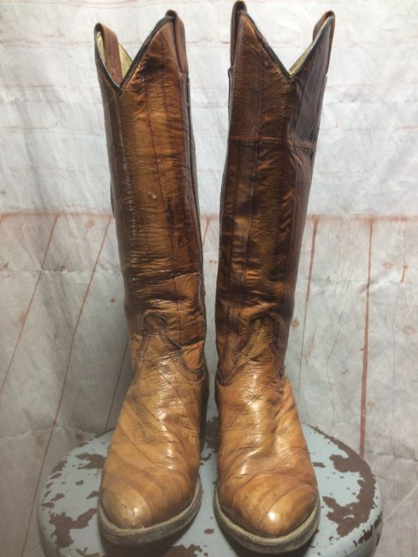 product details: COWBOY BOOTS W/ STINGRAY LEATHER POINTED TOE & TALL WALKING HEEL photo