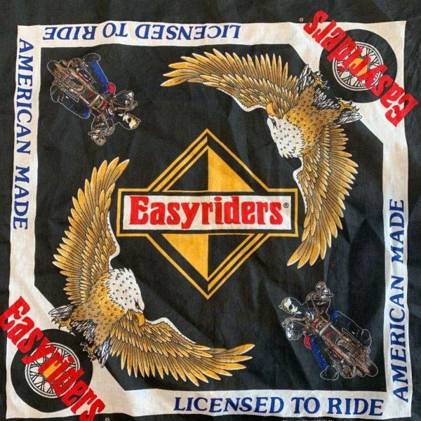 product details: RAD EASY RIDERS BANDANA W/ EAGLES & MOTORCYCLES photo