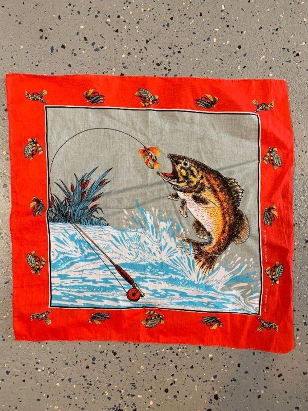 BANDANA COOL DETAILED FISH/ FLY & LAKE PRINT DESIGN