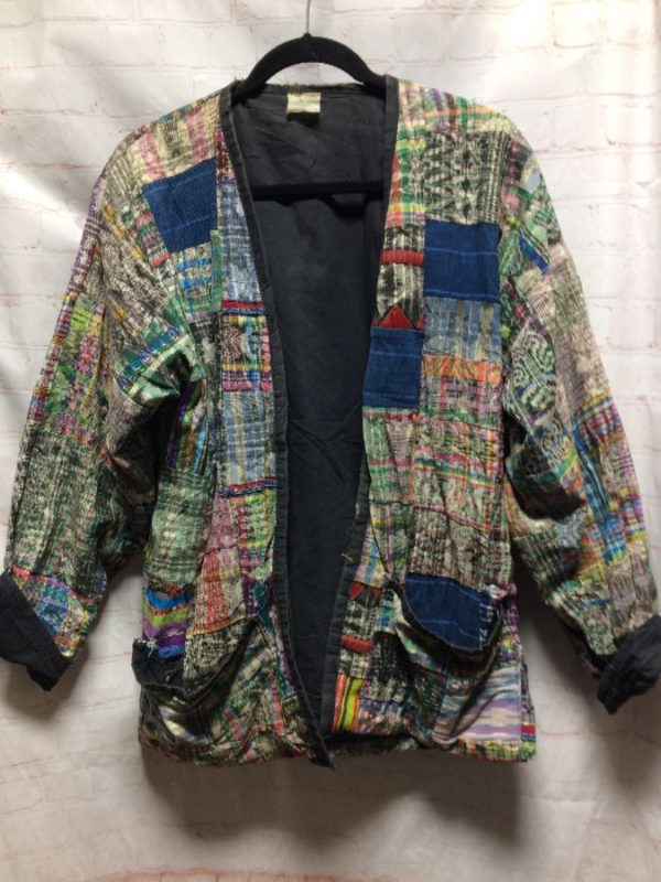 MULTI-PATTERN GUATEMALAN PATCHWORK JACKET