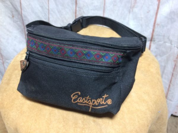 VINTAGE EASTSPORT FANNY-PACK 1990'S NATIVE TRIBAL DECORATIVE TRIM