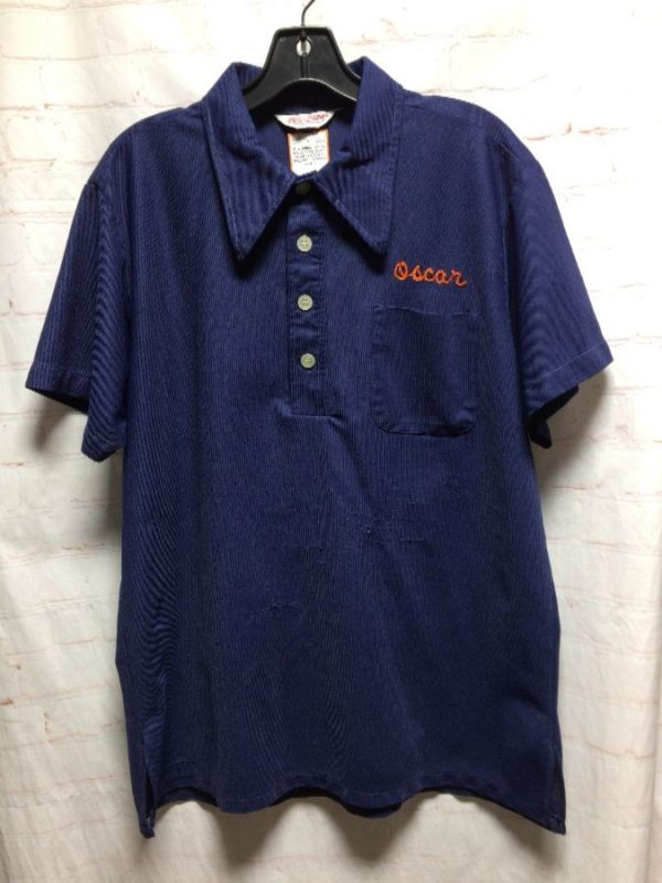 product details: POLO STYLE SHIRT W/ CHAIN STITCHED OSCAR & EMBROIDERED GIANTS photo