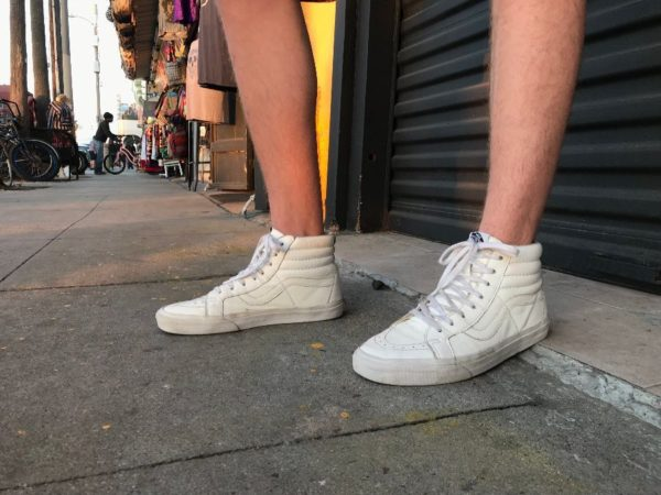Super Soft Leather Vans high tops as-is