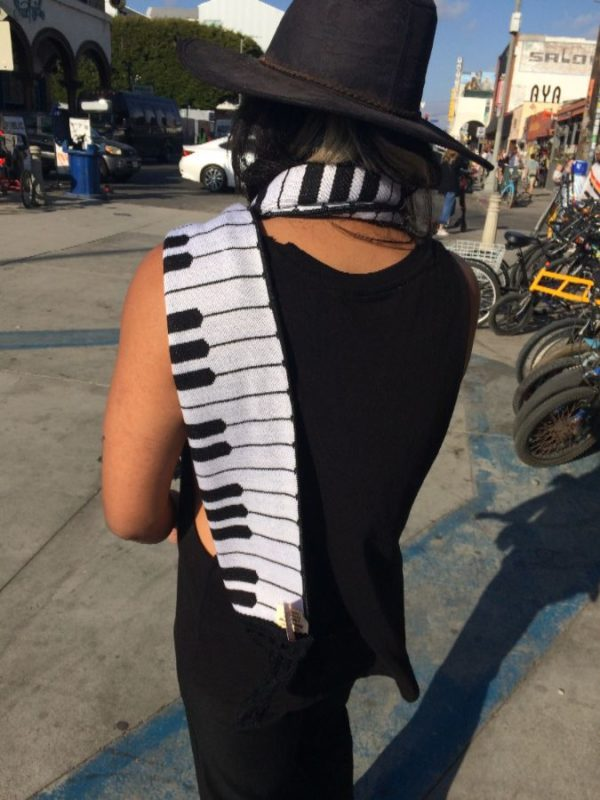 THE ORIGINAL PIANO KEY SCARF