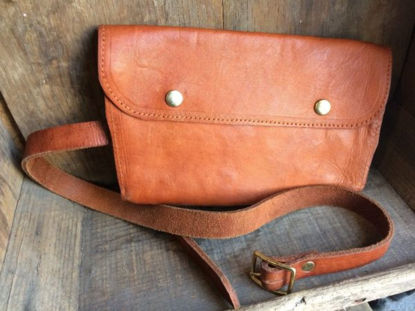 product details: LUZ FANNY PACK/POUCH BAG W/ LEATHER BUCKLED BELT photo