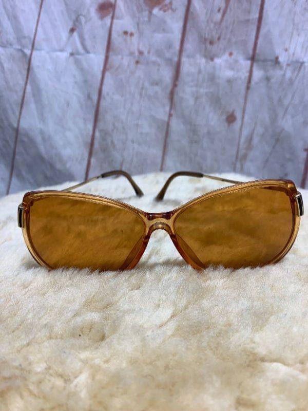 product details: Vintage 1960s-70s ORANGE FRAME AND LENSE SUNGLASSES photo