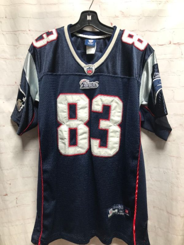 product details: NFL NEW ENGLAND PATRIOTS WELKER #83 FOOTBALL JERSEY photo