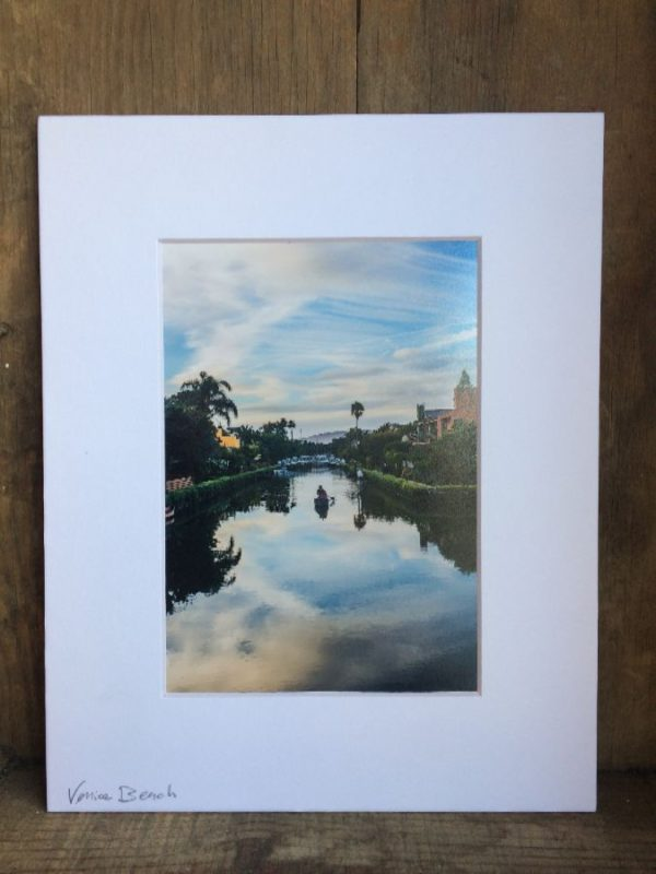 product details: VENICE CANALS CANOE SCENE  MOUNTED PHOTOGRAPH photo