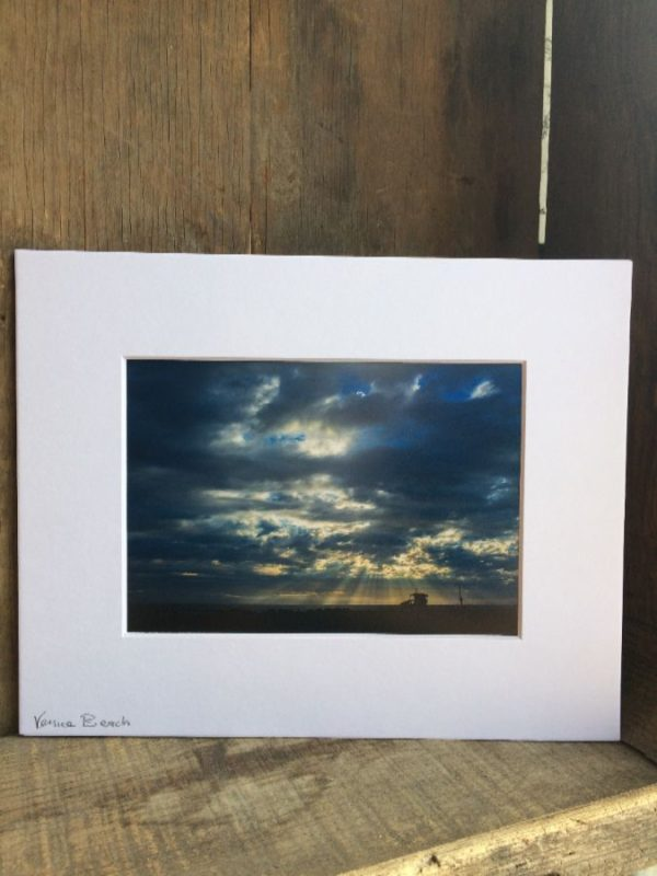product details: VENICE SUN SHINING THROUGH THE CLOUDS SCENE MOUNTED PHOTOGRAPH photo