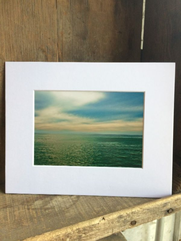 product details: BLUE SKIES OCEAN SCENE MOUNTED PHOTOGRAPH photo