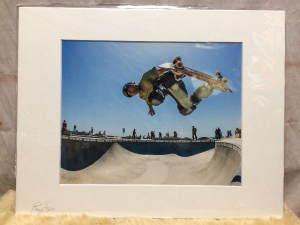 product details: VENICE SKATE PARK IN ACTION SCENE MOUNTED PHOTOGRAPH photo