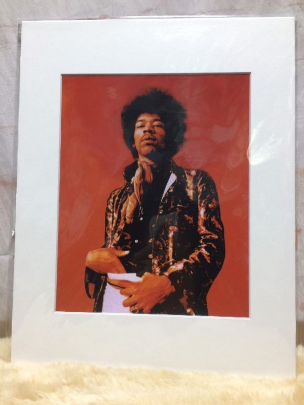 product details: JIMI HENDRIX FUNKY SHOT MOUNTED PHOTOGRAPH photo