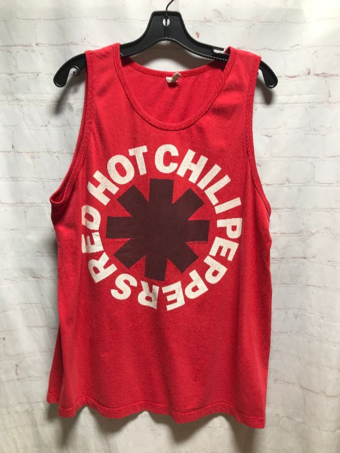 RED HOT CHILI PEPPERS W/ FRONT LOGO TANK TOP