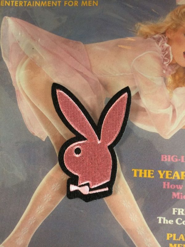 CLASSIC PLAYBOY BUNNY LOGO EMBLEM EMBROIDERED PATCH