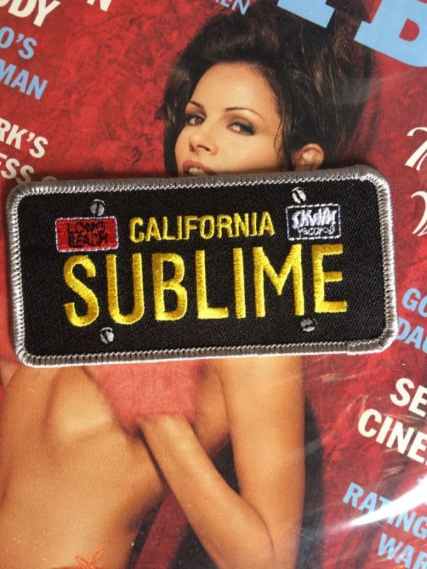 CALIFORNIA SUBLIME LICENCE PLATE EMBROIDERED PATCH