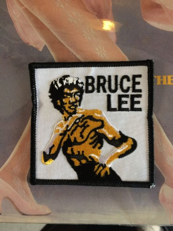 product details: CLASSIC BRUCE LEE ILLUSTRATION EMBROIDERED PATCH W/ SQUARE SHAPE photo