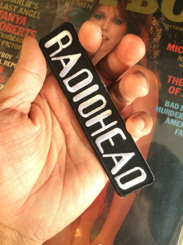 CLASSIC RADIOHEAD LETTERED LOGO EMBROIDERED PATCH