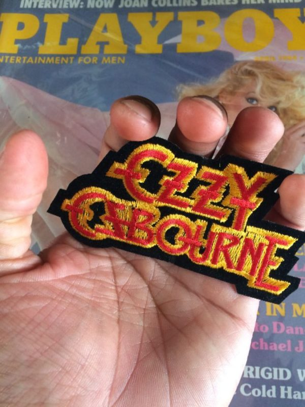 OZZY OZBOURNE CLASSIC LETTERED LOGO EMBROIDERED PATCH
