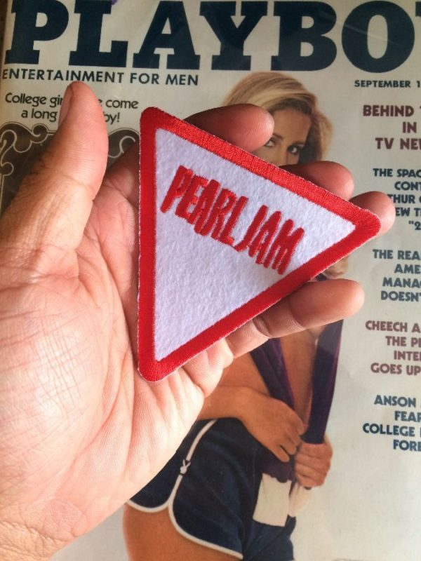 product details: PEARL JAM TRIANGLE PATCH YIELD SIGN photo