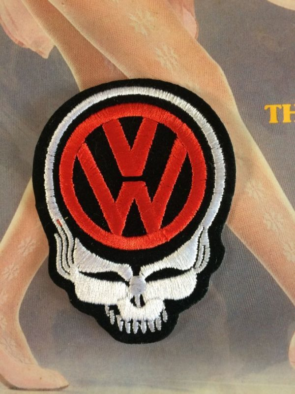 GRATEFUL DEAD EMBROIDERED PATCH W/ FEED YOUR HEAD SKULL & VW EMBLEM