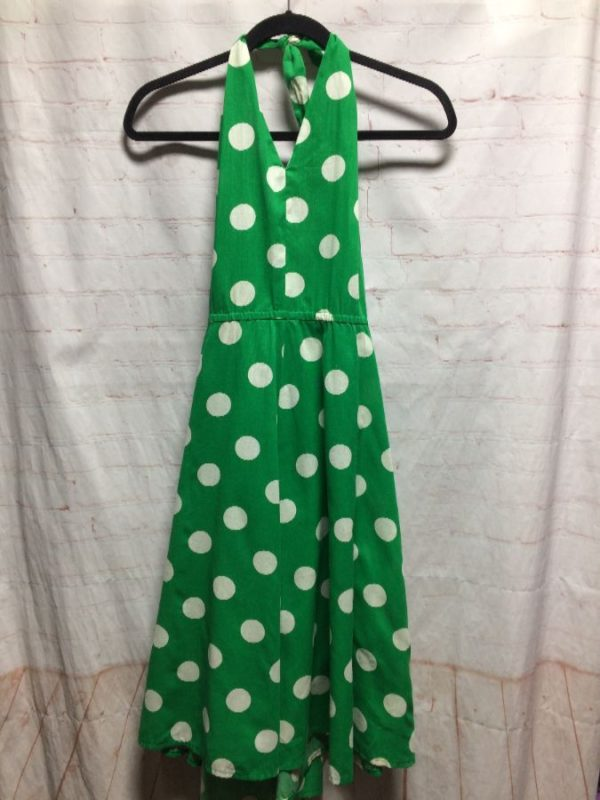 product details: HALTER DRESS W/ POLKA DOT PRINT photo