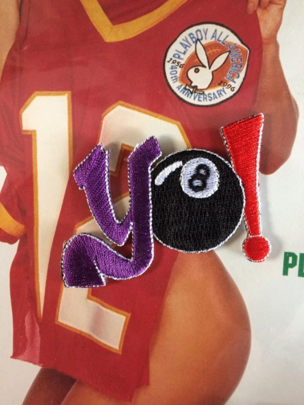 product details: YO! EIGHT BALL EMBROIDERED PATCH photo