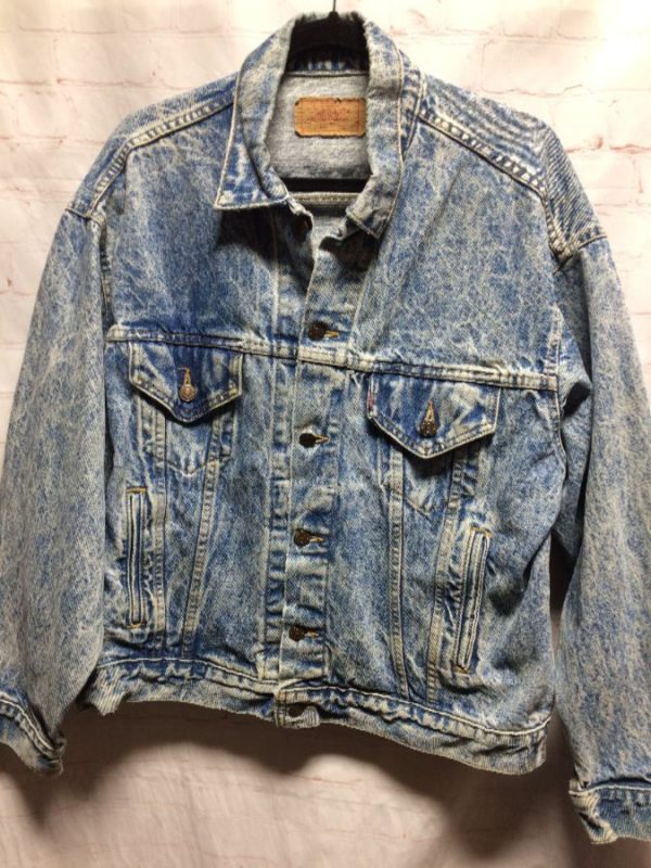 LEVIS CLASSIC ACID WASHED DENIM JACKET