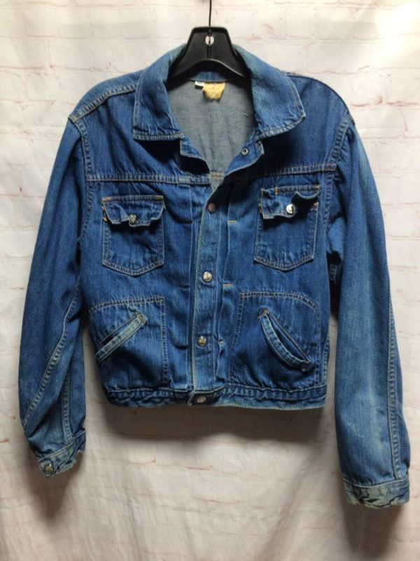 1960'S BASIC MULTI-POCKET SOFT DENIM JACKET