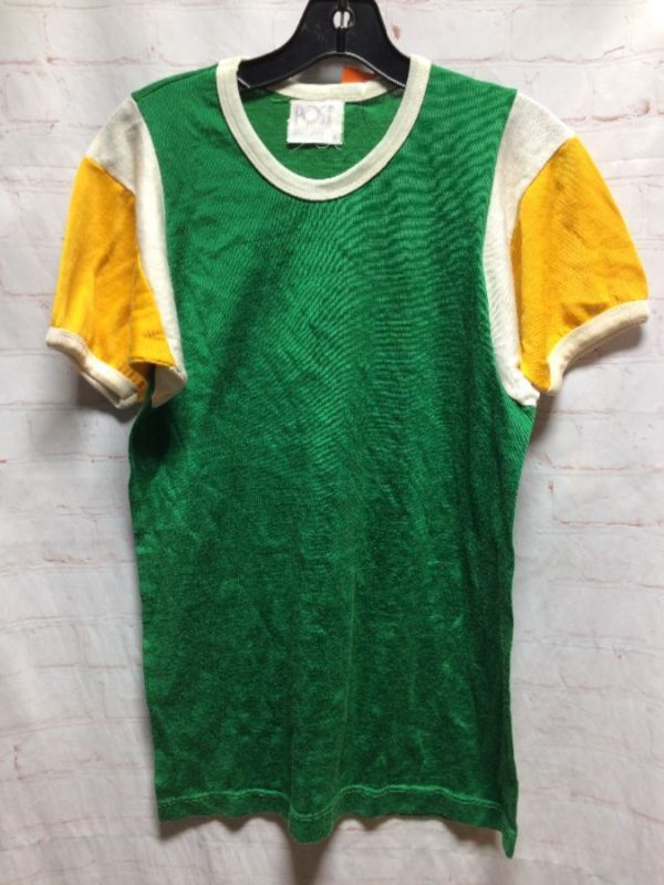 RETRO SPORTS JERSEY W/ COLOR-BLOCK DESIGN