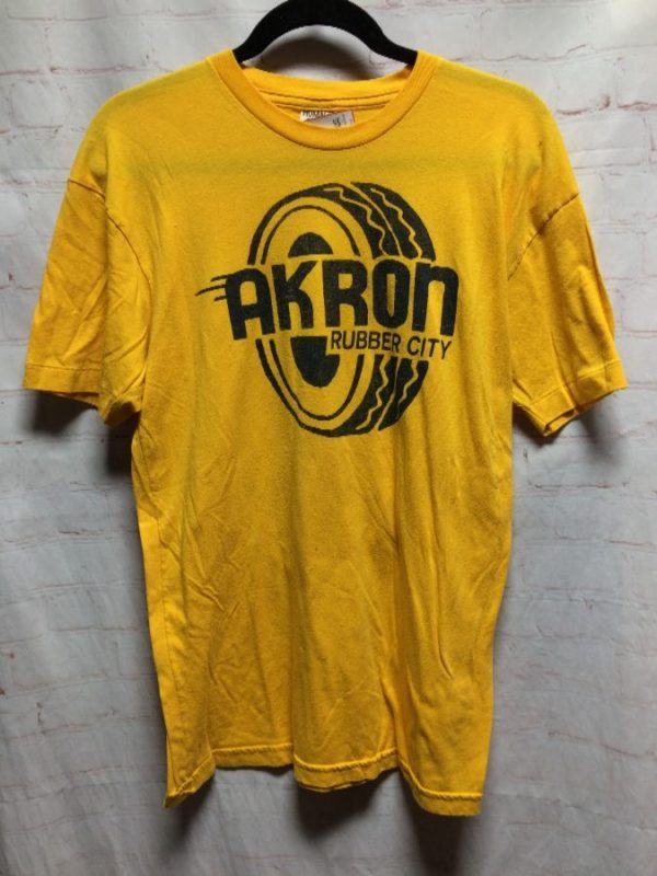 AKRON RUBBER CITY W/ TIRE GRAPHIC SOFTY T-SHIRT
