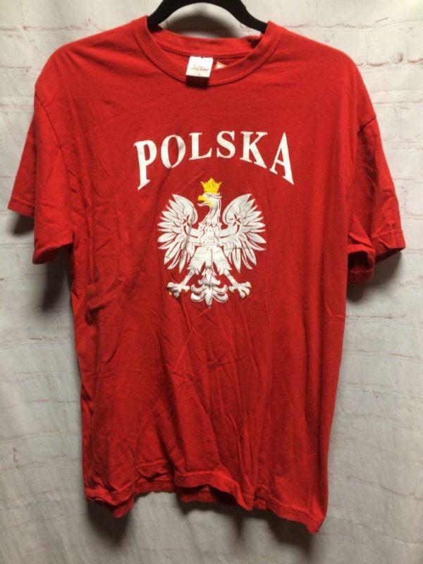 T-SHIRT POLSKA W/ CROWNED EAGLE EMBLEM