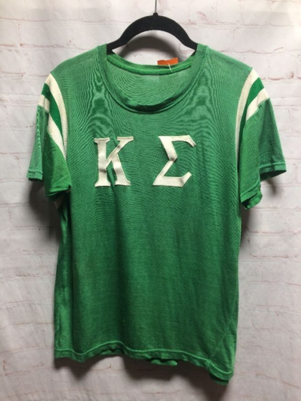 RETRO FOOTBALL JERSEY KAPPA OMEGA W/ APPLIQUED LETTERS