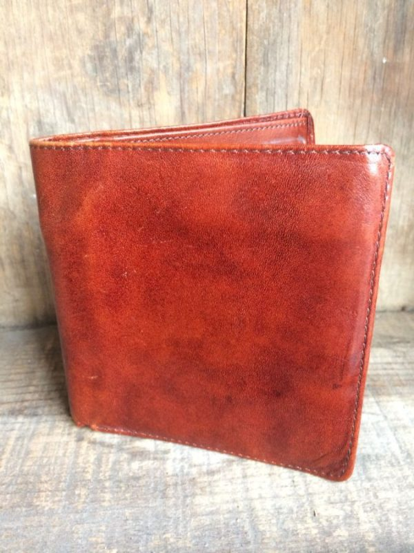 CALFSKIN LEATHER WALLET W/ MULTIPLE CARD SLOTS